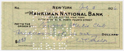 Fields, W.C. (1879-1946) - signed cheque